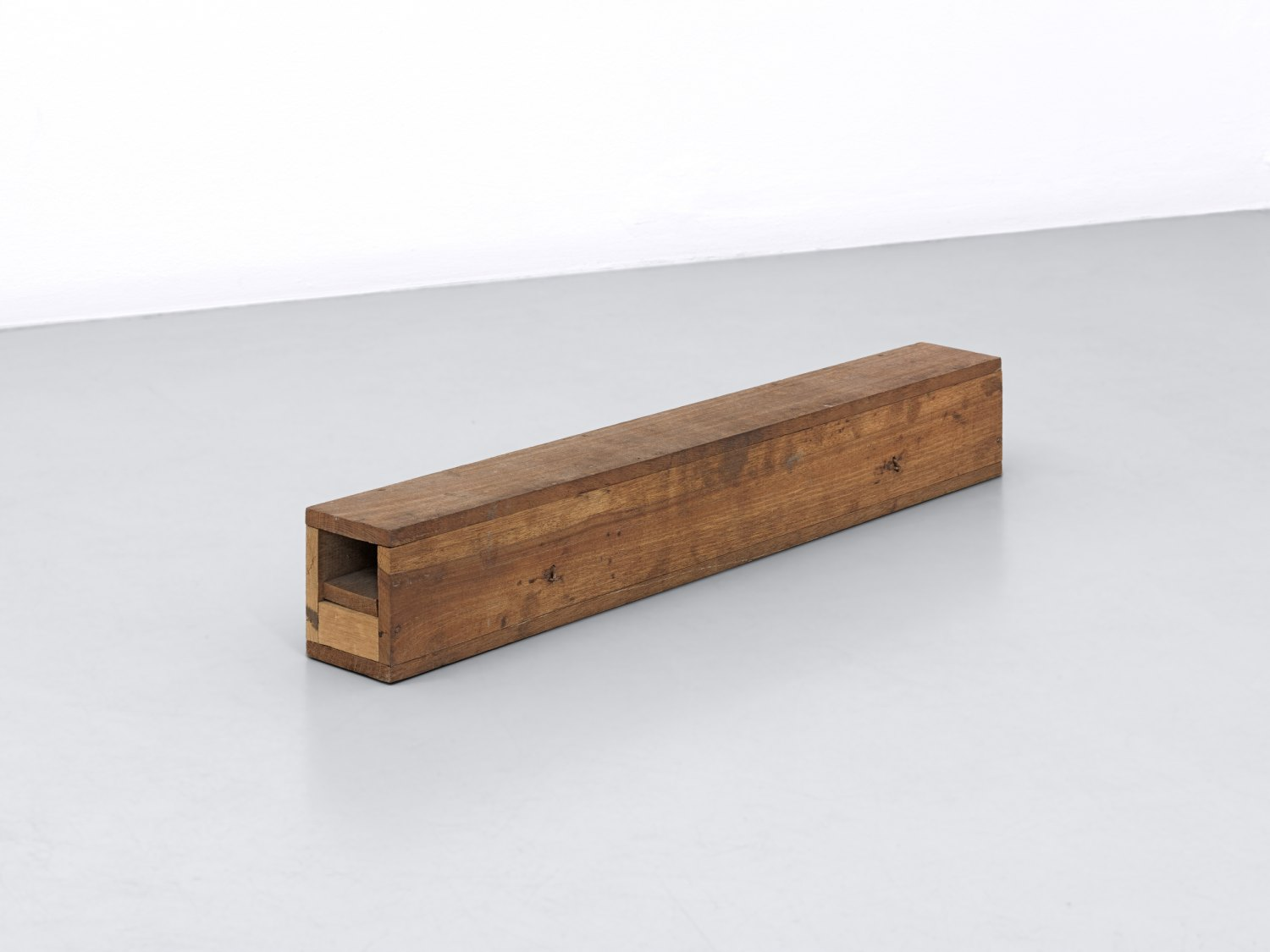 Andreas Slominski Untitled, 1998 Wood, metal, 9 × 70 × 11 cm