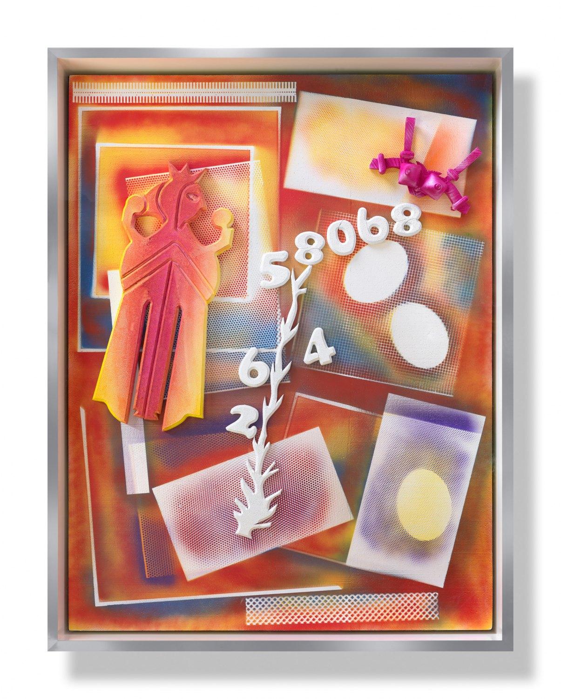 Andreas Slominski   Untitled, 2010    Polystyrene, acrylic paint, 261 × 199 × 30 cm
