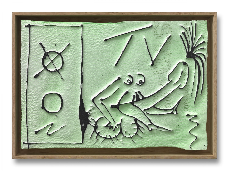 Andreas Slominski   xyz erotic vol. 55, 2010    Polystyrene, acrylic paint, 20 × 30 cm
