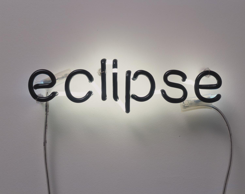 Cerith Wyn Evans Eclipse, 2005 Negative neon, 10.1 × 36.1 cm