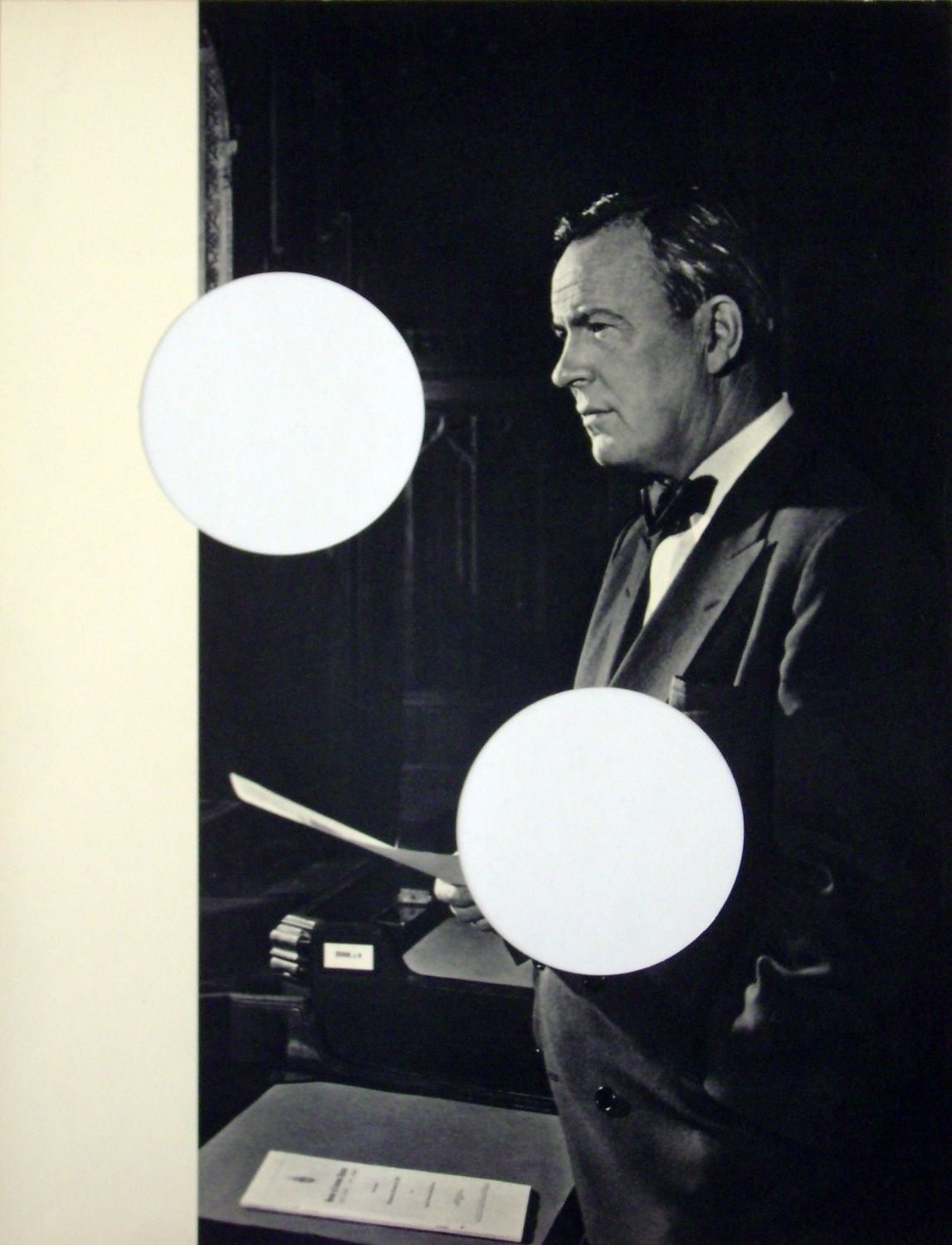 "Cerith Wyn Evans   Untitled (Lester B. Pearson), 2003   "" Portraits of Greatness""after Y.Karsh, gerahmt,  48 × 41.5 cm"