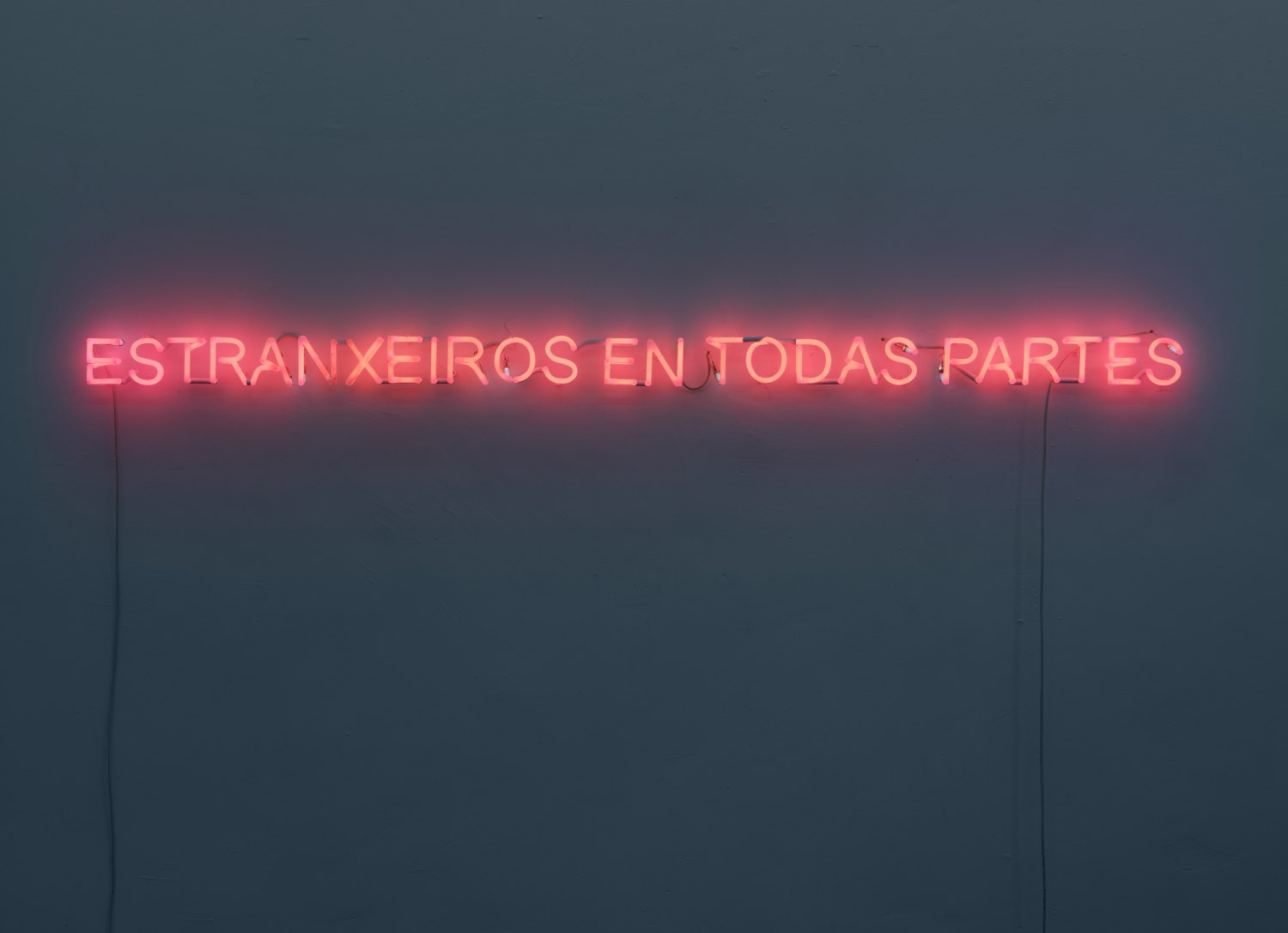 Claire Fontaine Foreigners everywhere (Galician), 2009 Neon, cable, metal, 10 × 230 × 4.5 cm