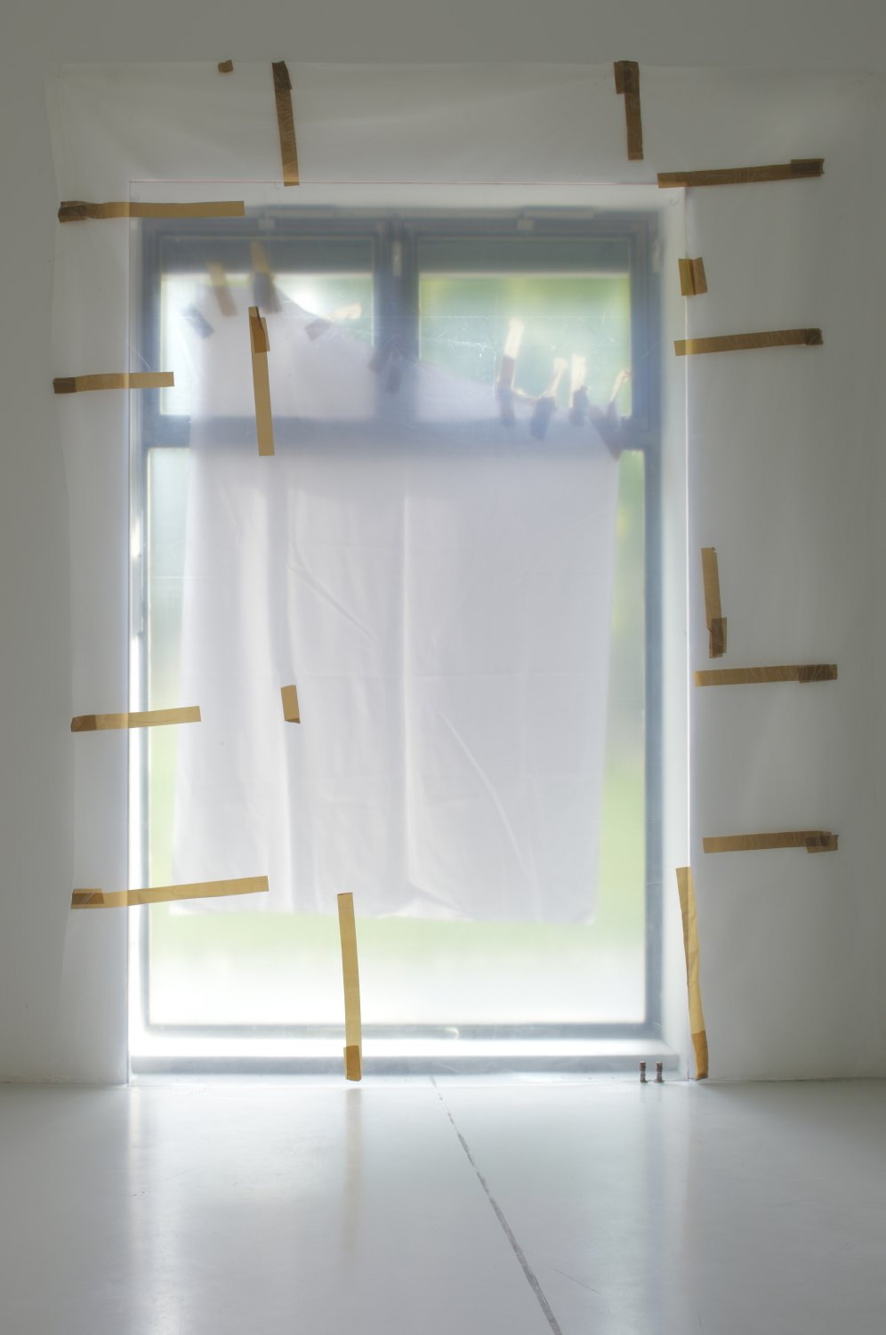 Gedi Sibony   Except For The Guards, 2008    Plastic, tape,310 × 244 × 37 cm