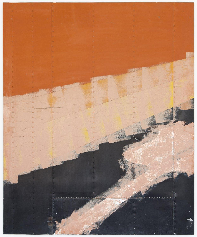 Gedi Sibony   Green Ray, 2014    Aluminium semi-trailer,  233 × 192 × 4 cm