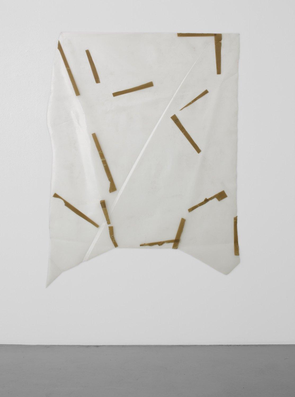 Gedi Sibony   That's Tall''s TaleT, 2005    Plastic, tape,  152.4 × 152.4 cm