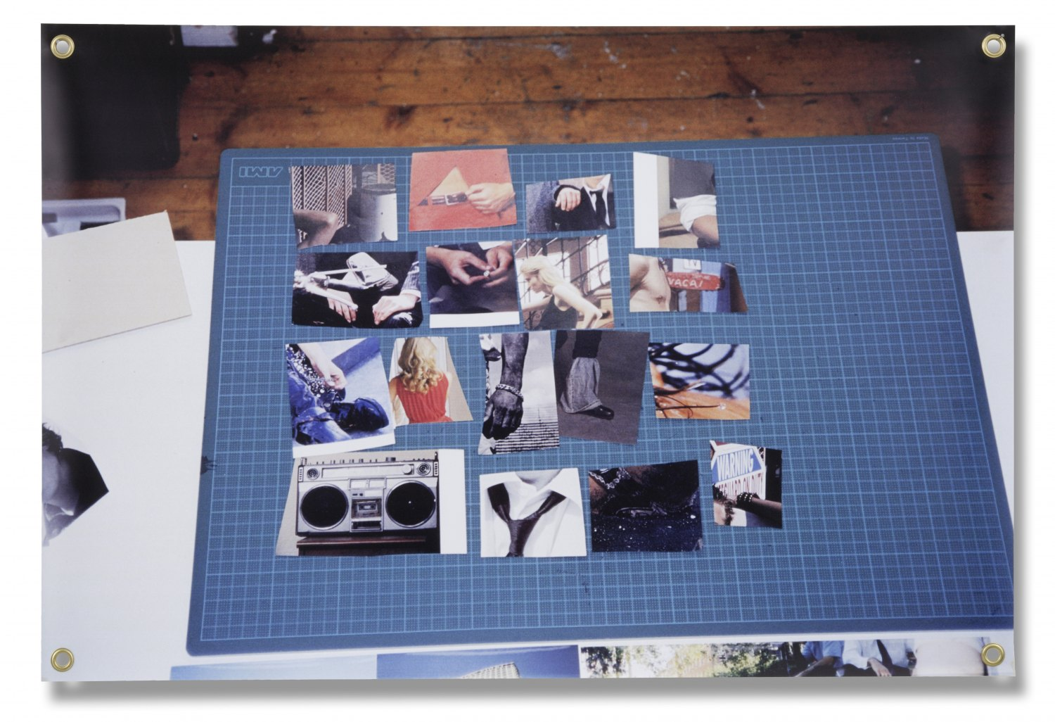 Hilary Lloyd   Untitled (Cutting Board), 2004  Photo on banner, 100 × 66 cm