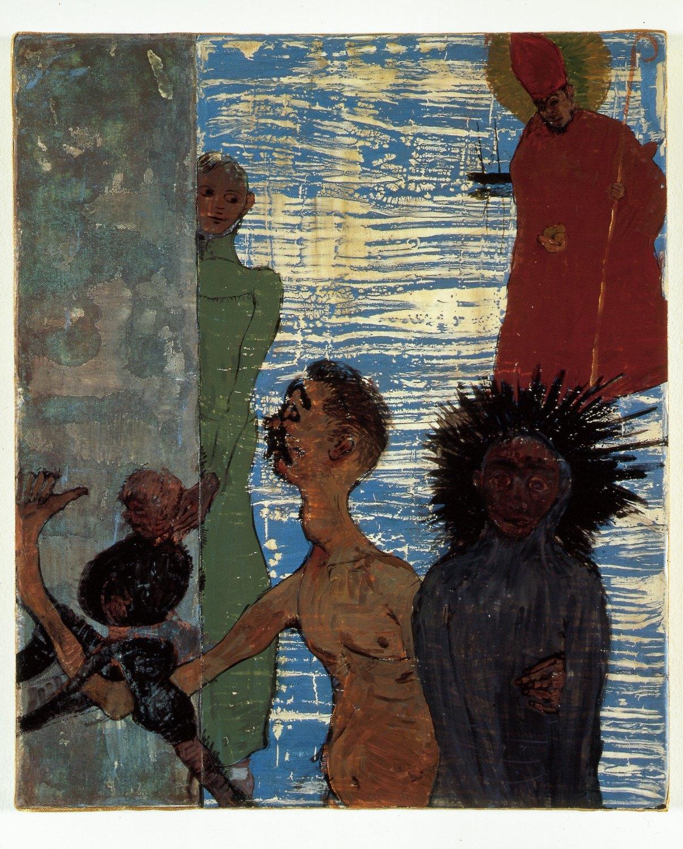 Kai Althoff Traum, 2002 Watercolor, spar varnish, varnish, paper on canvas,60 × 50 × 4.5 cm