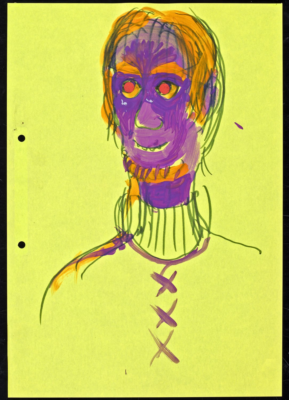 Kai Althoff Untitled, 2003 Felt-tip, varnish on colored paper, 29.7 × 21 cm