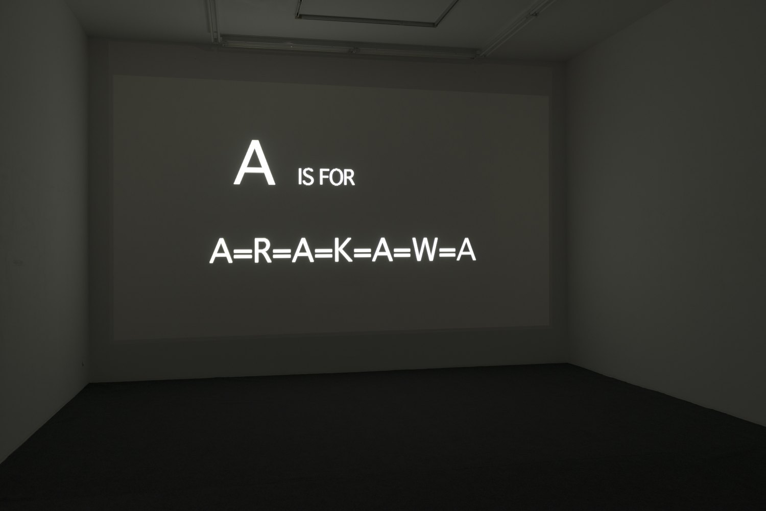 Karl Holmqvist A is for A=R=A=K=A=W=A, 2012 Single channel video, black and white, sound, 46:57 min