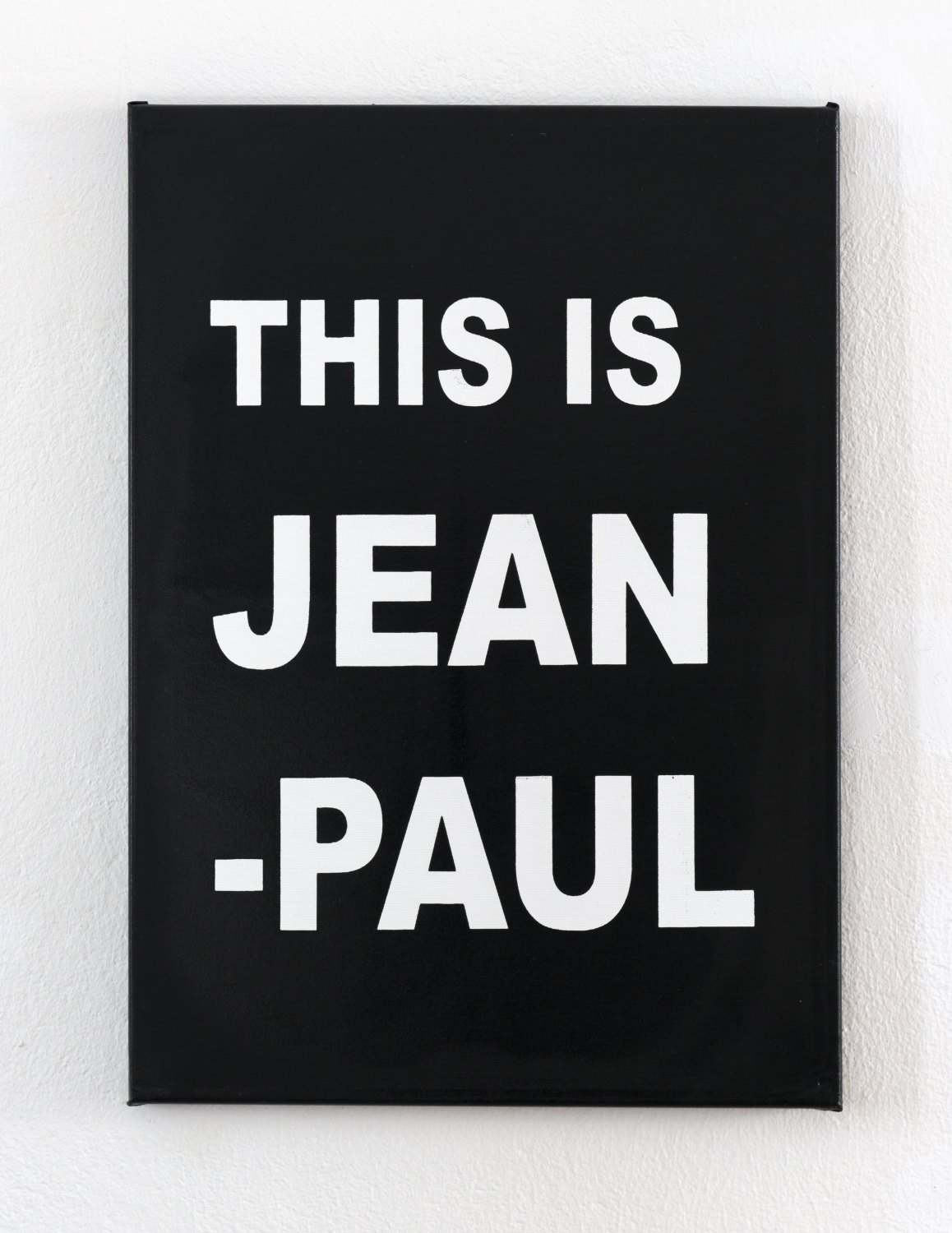 Karl Holmqvist Jean-Paul painting, 2006 Xerox print on canvas, 60 × 50 cm