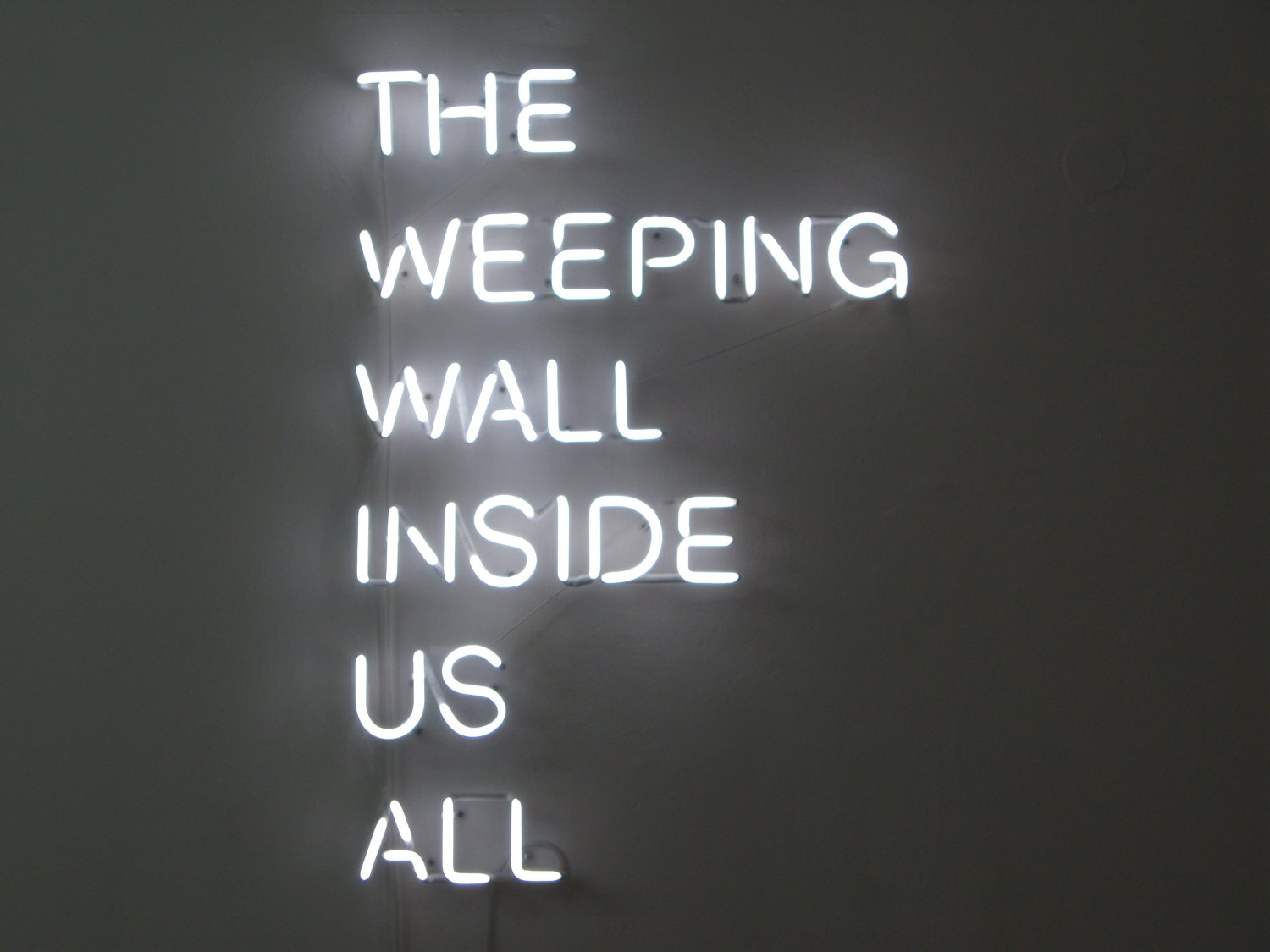 Karl Holmqvist & Claire Fontaine The Weeping Wall Inside Us All, 2009 Neon, 116 × 80 cm
