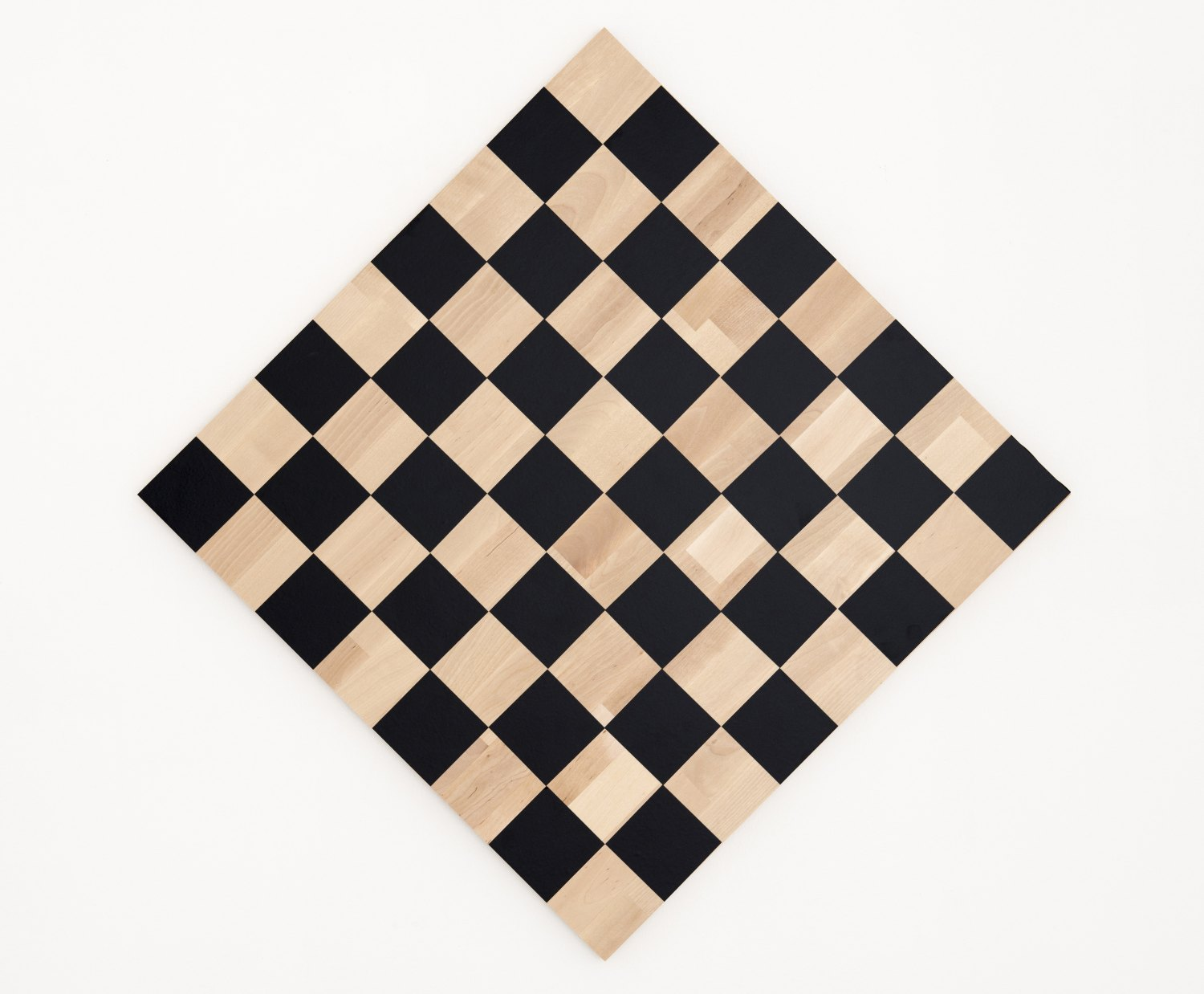 Karl Holmqvist Untitled (Checkerboard Painting Black), 2013 Vinyl on wood, 60 × 60 cm