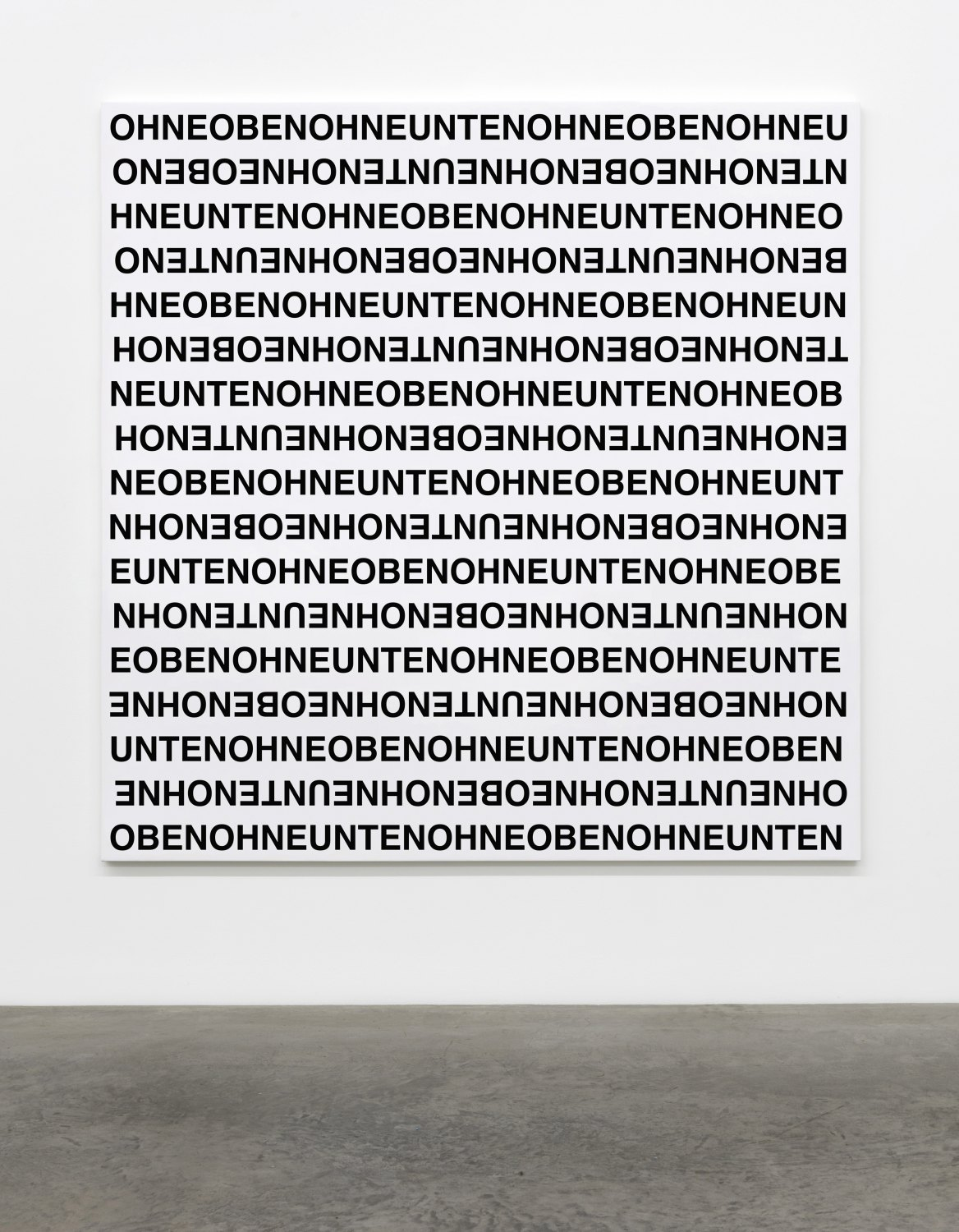 Karl Holmqvist Untitled (OHNEOBEN), 2016 UV digital print on canvas, 180 × 180 × 4 cm