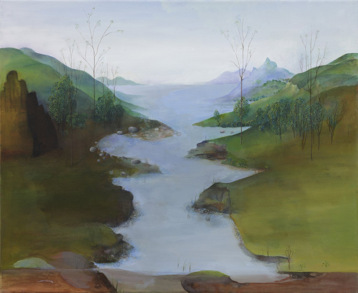 Katharina Wulff  Die Scheide / the sheath, 2008    Oil on canvas,  90.5 × 65.5 cm