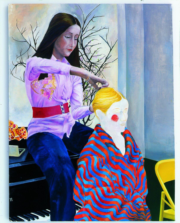 Katharina Wulff   Die Untergebene / the subordinate, 2002    Oil on canvas,  145 × 109 cm