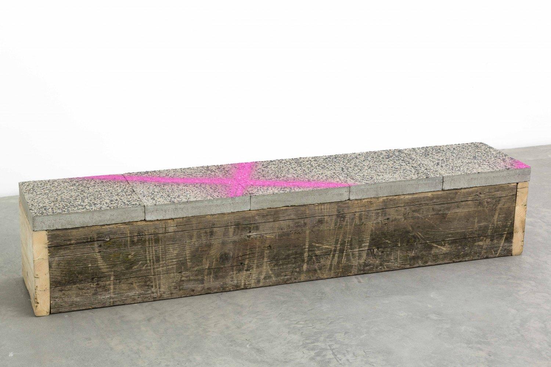 Klara Lidén  Untitled, 2015 Wood, concrete, 34 × 140 × 35 cm
