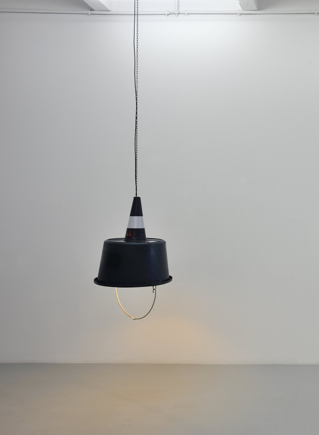 Klara Lidén Untitled (lamp, black), 2014 Lamp, plastic, 59 × 50 × 50 cm