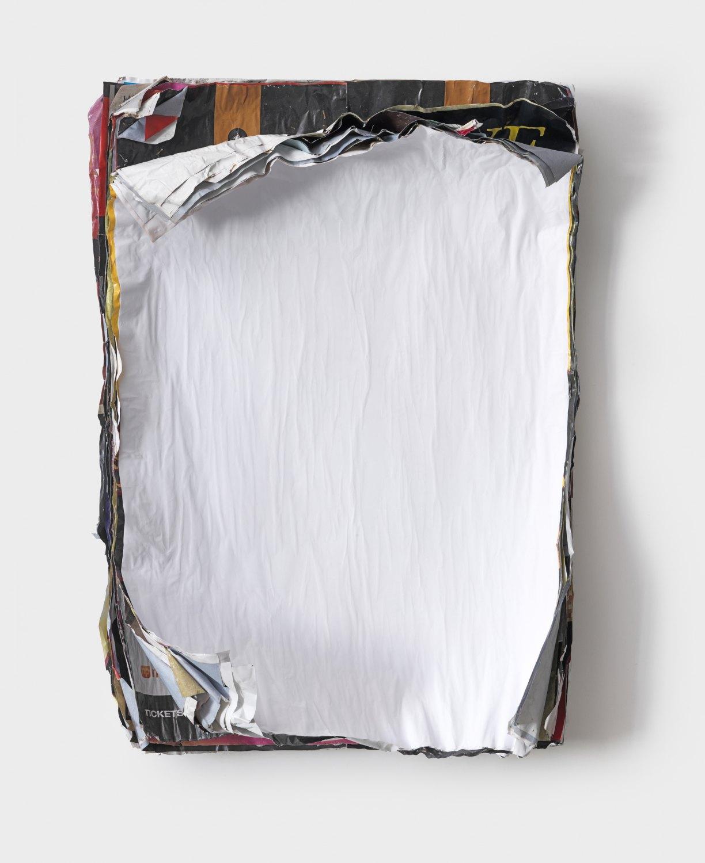 Klara Lidén Untitled (Poster painting), 2010 Posters, paint, 90 × 62 × 14 cm