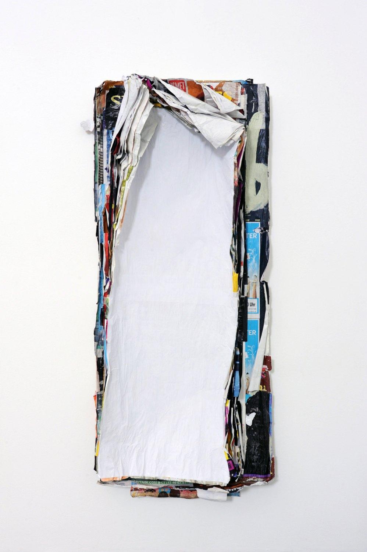 Klara Lidén Untitled (Poster painting), 2010 Posters, paint, 177 × 72 × 22 cm