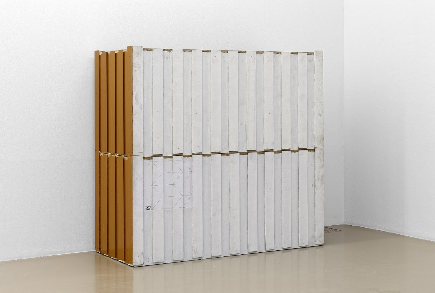 Manfred Pernice Bell II, 1-14 (No4+5), 1998  Chipboard, synthetic resin varnish  each, 95 × 201.5 × 86.5 cm