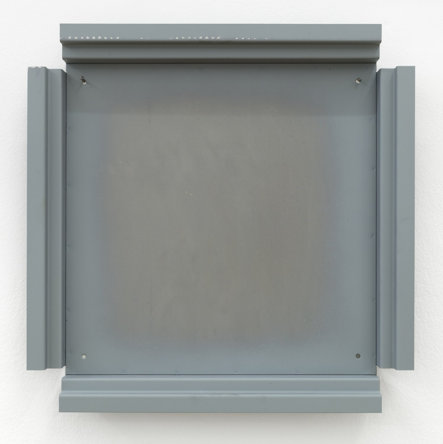 Manfred Pernice   Cassette 36, 2014    Metal, paint, 42.2 × 42.2 × 4.4 cm
