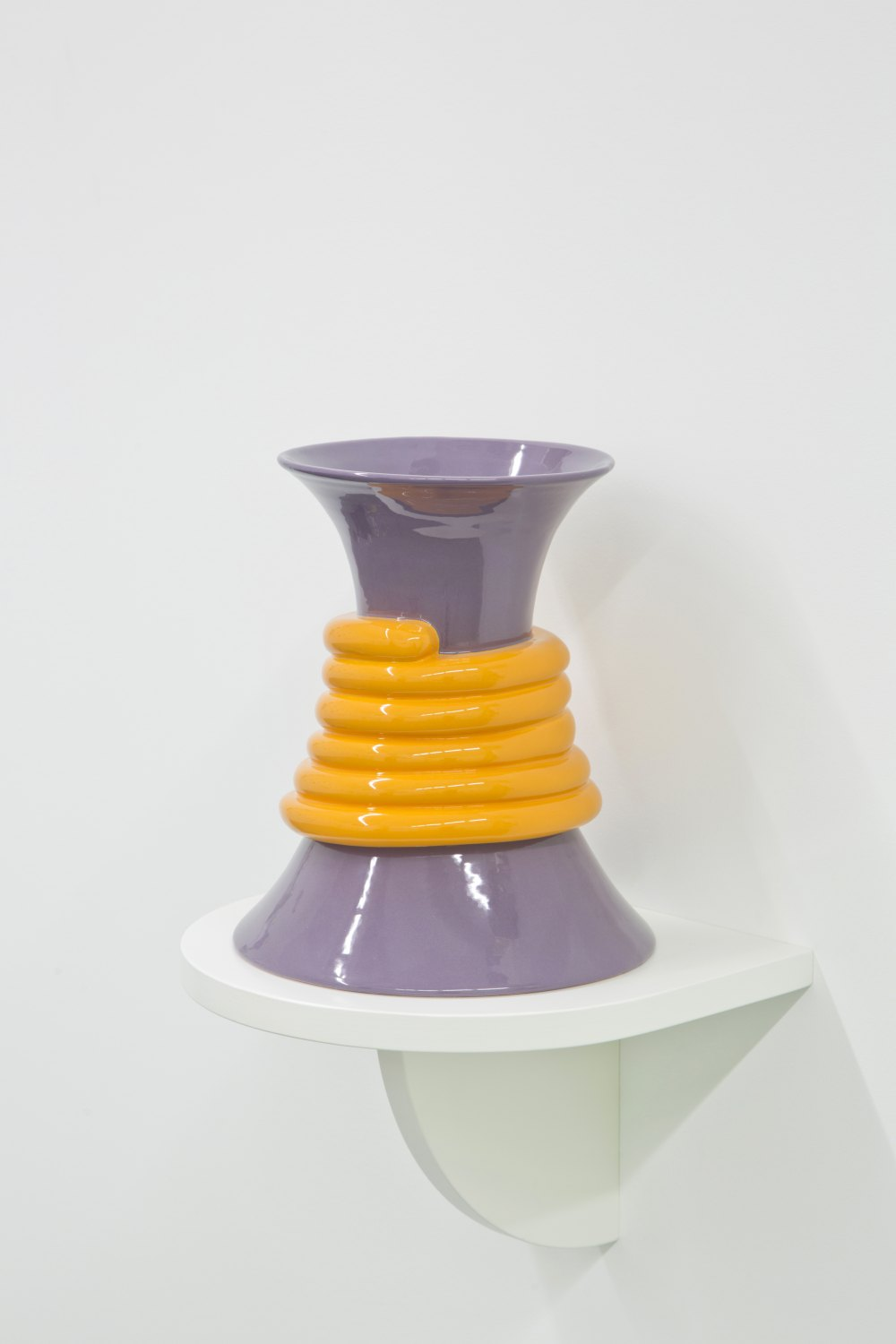 Marc Camille Chaimowicz Rope vase, 2014 Glazed ceramic, 30 cm × ∅ 23 cm