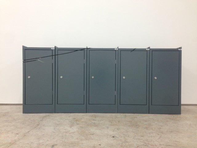 Matias Faldbakken TOOL BOX CUT, 2013 5 tool lockers, 73 × 175 × 35 cm