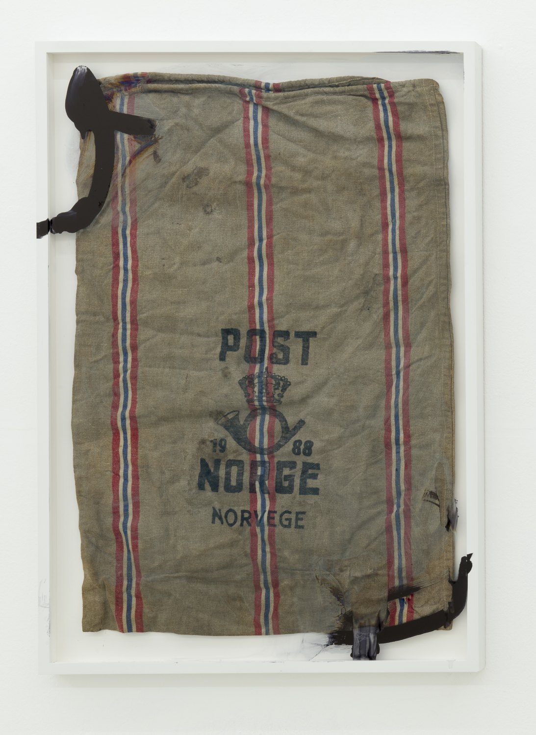 Matias Faldbakken Untitled (post bag), 2013 Canvas, frame, paint, 109.8 × 75.8 cm