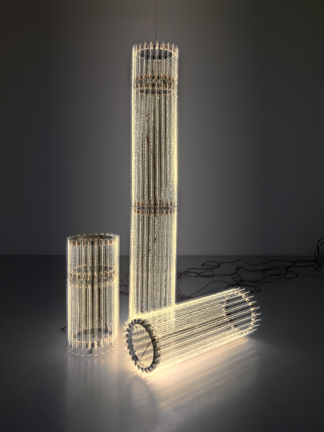 Cerith Wyn Evans   Column (Assemblages) V, 2010    Mixed media  three parts: 39 × 230 cm, 39 × 80 cm, 39 × 100 cm