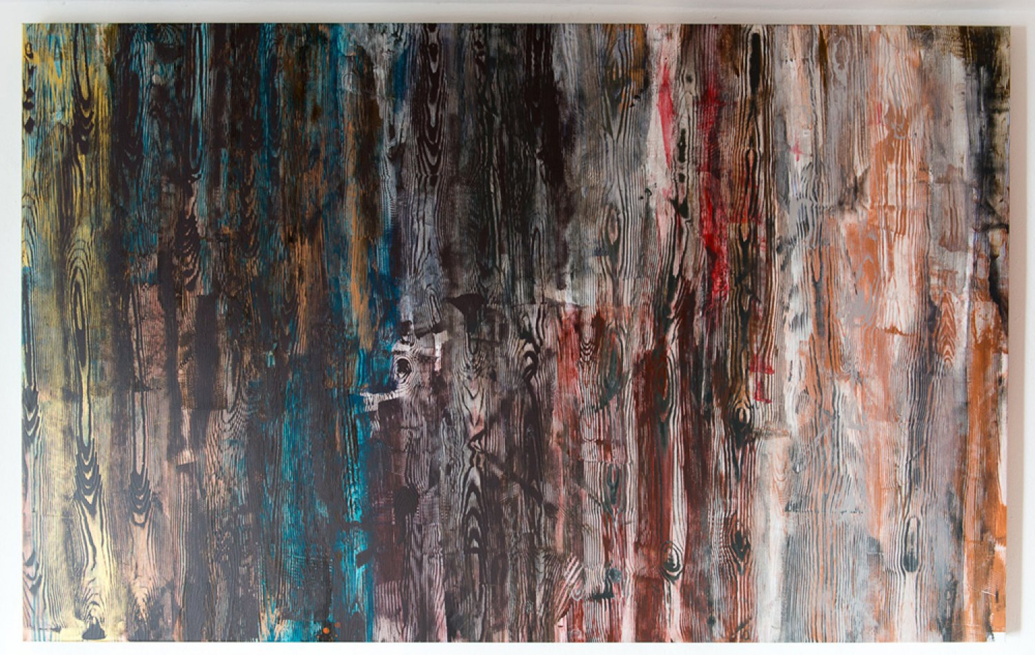 Reena Spaulings Holzweg 5, 2013 Acrylic on canvas, 150 × 240 cm