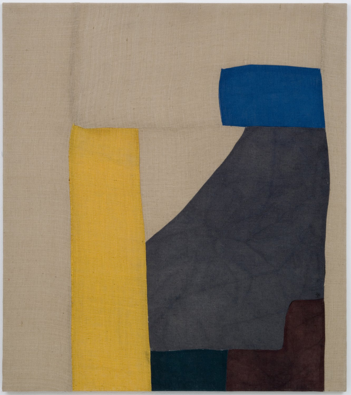 Sergej Jensen Sao Paulo exhibition I, 2006 Sewn jute, 160 × 140 cm