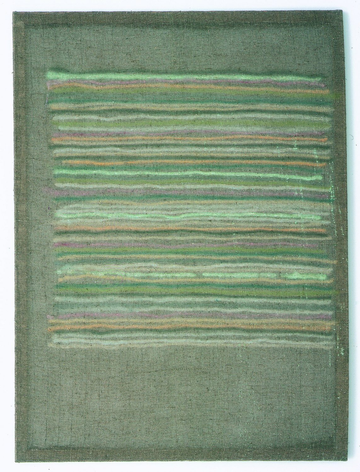 Sergej Jensen Untitled, 2003 Chlorine and paint on burlap, 170 × 125 cm