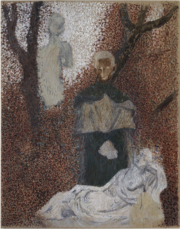Sergej Jensen Mr Danmark, heksehertorgen fra Herlev (acrylic painting 6), 2014  Acrylic on linen, 308 × 241 cm