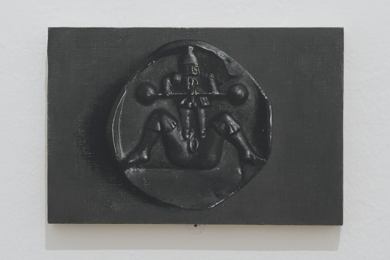 Victor Man Untitled, 2013 Oil on linen mounted on wood, 18 &times 27 cm